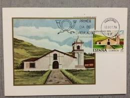 Carte Maximum Espagnol De 1976, Eglise De Orosi Au Costa Rica - Eglises Et Cathédrales