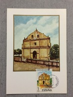 Carte Maximum Espagnol De 1976, Eglise De Nicoya Au Costa Rica - Eglises Et Cathédrales