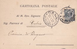 CARTOLINA POSTALE - MILANO - NOTIFICA DI MATRIMONIO - VIAGGIATA PER CALCIO (BERGAMO) - 1900-44 Vittorio Emanuele III