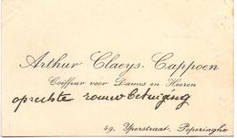Visitekaartje - Carte Visite - Coiffeur Arthur Claeys - Cappoen - Poperinge - Cartes De Visite