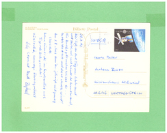 1991 PORTUGAL ALGARVE POSTCARD WITH 1 EUROPA STAMP TO SWISS - 1910 - ... Repubblica