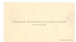 Visitekaartje - Carte Visite - Marcel Hardeman - Vercruysse - Westouter - Cartes De Visite
