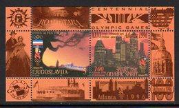 YUGOSLAVIA 1996 Olympic Games, Atlanta Block MNH / **.  Michel Block 44 - Blocs-feuillets
