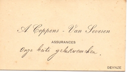 Visitekaartje - Carte Visite - Assurances A. Coppens - Van Severen - Deinze - Cartes De Visite