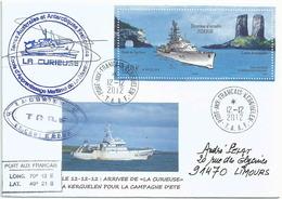 YT BF 26 - Escorteur D'escadre Forbin - Arrivée De La Curieuse à Kerguelen - Port Aux Français - Terres Australes Et Antarctiques Françaises (TAAF)