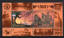 YUGOSLAVIA 1996 Olympic Games, Atlanta Block Used.  Michel Block 44 - Blocs-feuillets