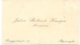 Visitekaartje - Carte Visite - Mecanicien Julien Bultinck - Hauspie - Poperinge - Visitenkarten