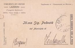 CARTOLINA POSTALE - SIENA - STABILIMENTO ARTI GRAFICHE , LAZZERI - VIAGGIATA PER FONTANELLA ( BG) - 1900-44 Vittorio Emanuele III