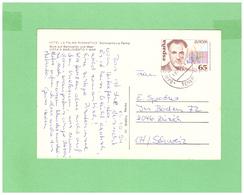 1994 ESPANA BARTOLOVENTO POSTCARD WITH 1 STAMP TO SWISS - 1931-Hoy: 2ª República - ... Juan Carlos I