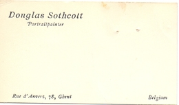 Visitekaartje - Carte Visite - Portaitpainter Douglas Sothcott - Ghent Gent - Visitenkarten
