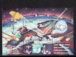 YUGOSLAVIA 1993 Danube Cooperation Block Used.  Michel Block 42 - Blocs-feuillets