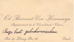 Visitekaartje - Carte Visite - Chocolaterie Vénus - Od. Beirnaert - Van Heuverswyn - Gand Gent - Visitenkarten