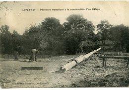 Loperhet -  Pêcheurs Travaillant à La Construction D'un Bateau - France