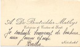 Visitekaartje - Carte Visite - A. De Bontridder - Mathys - Nederbrakel - Cartes De Visite
