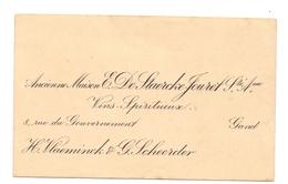 Visitekaartje - Carte Visite - Vins Wijn - E. De Staercke Jouret - Gent - H. Vlaeminck & G. Scheerder - Cartes De Visite