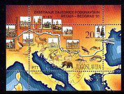 YUGOSLAVIA 1991 Danube Conference Block Used.  Michel Block 40 - Blocs-feuillets