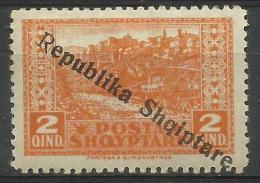 Albania - 1926 Republic Overprint On 2q MH *  SG 179  Sc 179 - Albania