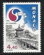 MONACO , 4.40 Frs , XXI Congrès De L'U.P.U. à Séoul ( Corée Du Sud ) , 1994 , N° YT 1944 , NEUF ** - Neufs