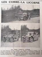 1912 TOUR DE FRANCE AUTOMOBILE - LES VOITURES CORRE-LA LICORNE - PILAIN - LA CRESPELLE - DE BAZELAIRE - Journaux - Quotidiens