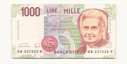 Italie 1990 Billet De 1000 Lires - [ 2] 1946-… : Républic