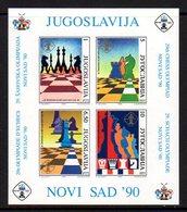 YUGOSLAVIA 1990 Novi Sad Chess Olympiad Block MNH / **.  Michel Block 39 - Echecs
