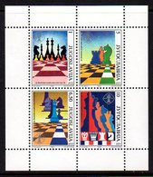 YUGOSLAVIA 1990 Novi Sad Chess Olympiad Perforated Block MNH / **.  Michel Block 38 - Blocs-feuillets