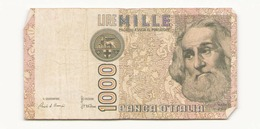 Italie 1982 Billet De 1000 Lires - [ 2] 1946-… : Républic