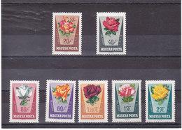 HONGRIE 1962 FLEURS ROSES Yvert 1516-1522 NEUF** MNH - Hongrie