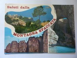 """Cartolina Viaggiata """"SALUTI DALLA MONTAGNA SPACCATA"""" 1982 - Italia"""