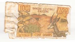 Algérie 1970 Billet De 100 Dinars - Algérie