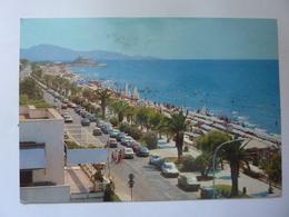 """Cartolina Viaggiata """"TERRACINA Lungomare Circe E Spiaggia Di Ponente"""" 1986 - Italia"""