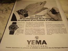 ANCIENNE PUBLICITE SUPERMAN DE  YEMA 1968 - Joyas & Relojería