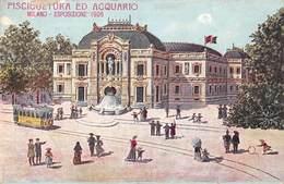 Milano Milan - Esposizione 1906 - Piscicultura Ed Acquario - Illustration - Milano