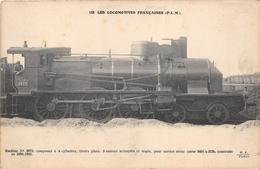 Les Locomotives  -  P.L.M.  -  Machine N° 3673  - Cheminots - Chemin De Fer - Matériel