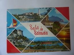 """Cartolina Viaggiata """"SALUTI DA SABAUDIA"""" 1990 - Italia"""