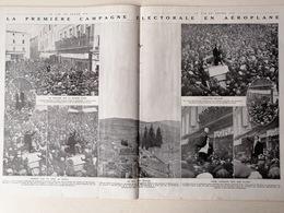 1912 JULES VÉDRINES - LA PREMIÈRE CAMPAGNE ÉLECTORALE EN AÉROPLANE - LIMOUX - QUILLAN - Journaux - Quotidiens