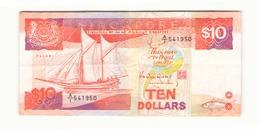 Singapour Billet De 10 Dollars - Singapour