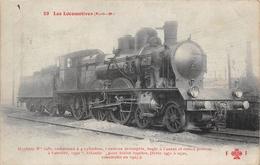 Les Locomotives  -  P.L.M.  -  Machine N° 2985   - Cheminots - Chemin De Fer - Matériel