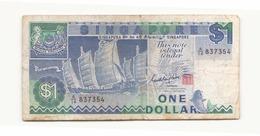 Singapour Billet De 1 Dollar - Singapore