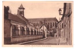 SOISSONS Rue De Deflandre - Ecole Du Centre (carte Animée) - Soissons