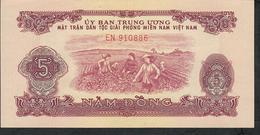 VIETNAM SOUTH PR6  5 DONG  1963   UNC - Vietnam