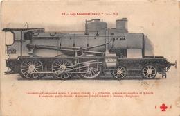 Les Locomotives  -  P.L.M.  -  Locomotive  Compound Mixe   - Cheminots - Chemin De Fer - Matériel