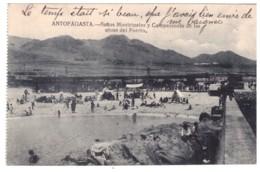 CHILI - ANTOFAGASTA Banos Municipales Y Campamento De Las Obras Del Puerto (carte Animée) - Chili