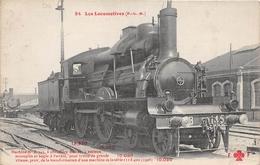 Les Locomotives  -  P.L.M.  -  Machine N° B-145   - Cheminots - Chemin De Fer - Matériel