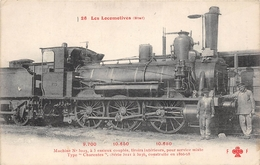 Les Locomotives  -  ETAT  -  Machine N° 3023  - Cheminots - Chemin De Fer - Matériel