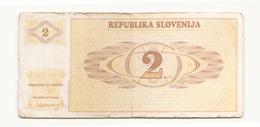 Slovénie Billet De 2 DVA - Slovenia