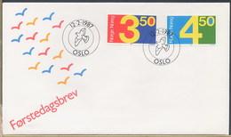 NORVEGIA NORGE - FDC 1987 - FDC