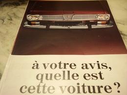 ANCIENNE PUBLICITE A VOTRE AVIS  C EST LA RENAULT 6 1968 - Voitures