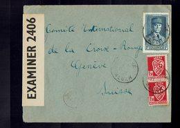 Lettre D'ALGERIE à L'intention De La CROIX ROUGE INTERNATIONALE à GENEVE - 1942 / 43 -  Censure Angaise - - 1941-42 Pétain