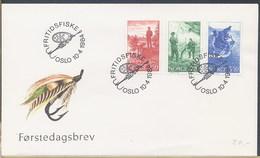 NORVEGIA NORGE - FDC 1984 - PESCA PESCATORI - AMO - PESCA SPORTIVA - FDC